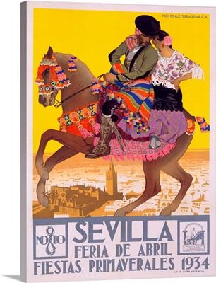 Sevilla, Vintage Poster, by Hohenleiter