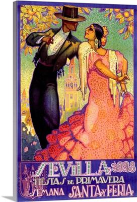Sevilla, Vintage Poster, by Juan Dapena Parilla