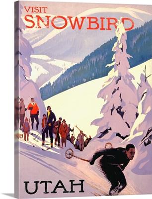Snowbird Utah Vintage Advertising Poster