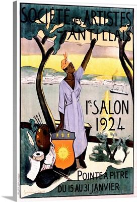 Societe des Artistes Antillais, Vintage Poster, by Germaine Casse