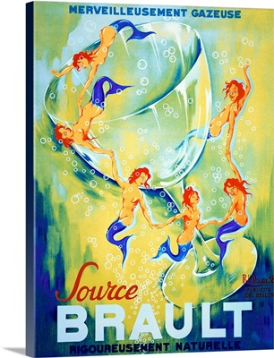Source Brault, Vintage Poster, by Philippe Noyer