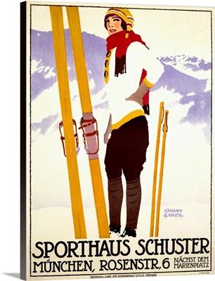 Sporthaus Schuster, Munchen, Vintage Poster