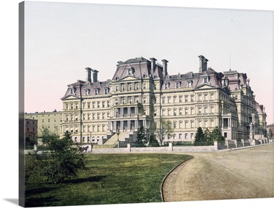 State War and Navy Building Washington District of Columbia Vintage Photograph