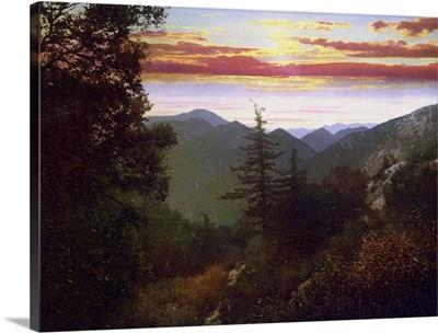 Sunset at Alpine Tavern Mt. Lowe Railway. Cal