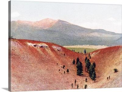 Sunset Mountain Extinct Volcano near Flagstaff Arizona Vintage Photograph