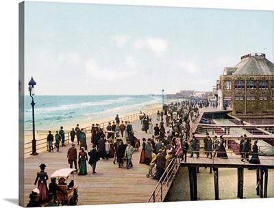 The Board Walk Atlantic City New Jersey Vintage Photograph