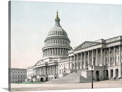 The Capitol at Washington District of Columbia Vintage Photograph