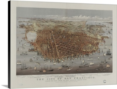 The City Of San Francisco, Birds Eye View From The Bay Looking South-West
