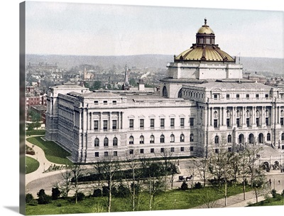 The Library of Congress Washington District of Columbia Vintage Photograph