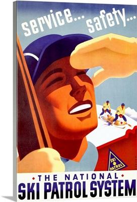 The National Ski Patrol System, Vintage Poster