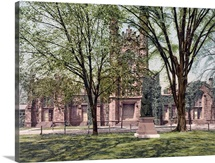 The Old Library Yale College Connecticut Vintage Photograph