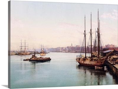 The Savannah River Georgia Vintage Photograph