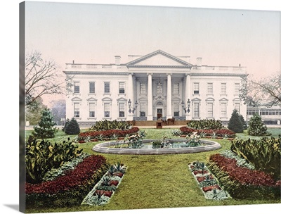 The White House Washington District of Columbia Vintage Photograph