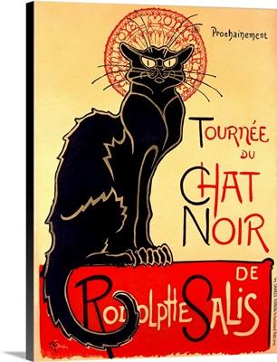 Tournee du Chat Noir, Vintage Poster, by Theophile Alexandre Steinlen