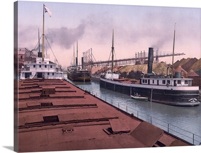 Unloading Ore in Cleveland Harbor