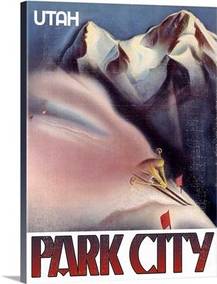 Utah Park City Vintage Advertising Poster