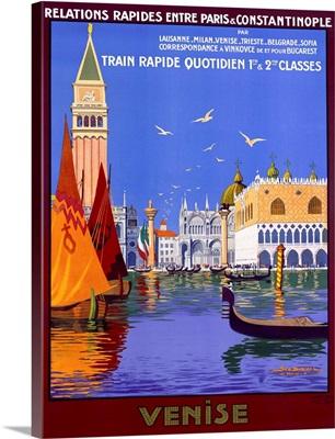 Venise, by Georges Dorival, Vintage Poster
