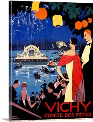 Vichy, Comite des Fetes, Vintage Poster, by Roger Broder
