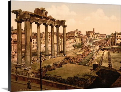 View Of The Forum, Rome, Italy