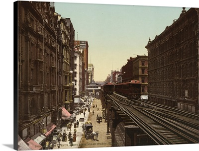 Wabash Avenue North From Adams Street, Chicago