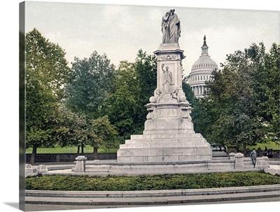Washington Naval Monument District of Columbia Vintage Photograph