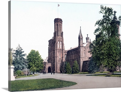 Washington Smithsonian Instutution District of Columbia Vintage Photograph