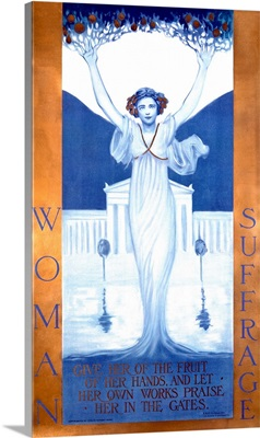 Woman Suffrage, Vintage Poster, by Evelyn Rumsey Cary