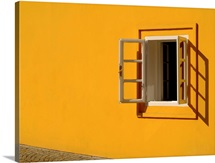 Yellow Wall Open Window