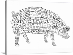 As The French Say, Pig Wall Art, Canvas Prints, Framed