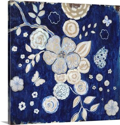 Blue Chinoserie Garden II