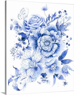 Delft Blue Garden I