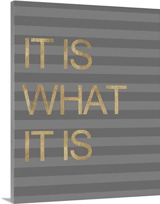 It is What it Is Stripes