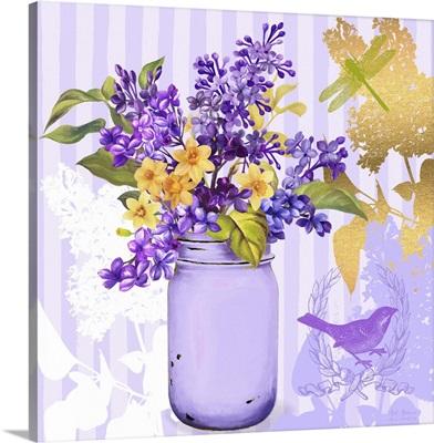 Lilac Mason Jar Bouquet