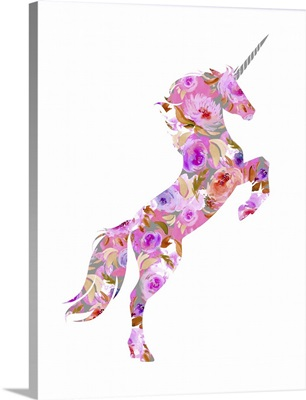Pink Floral Unicorn