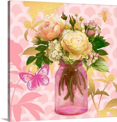 Pink Mason Jar Bouquet