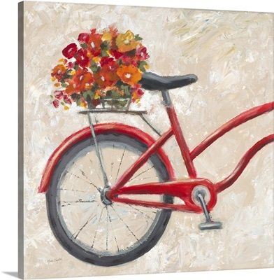 Red Floral Bicycle