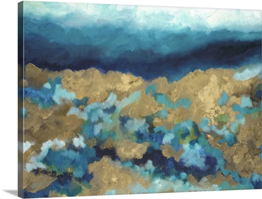 Shades of blue wall art by hutton art shades of blue canvas