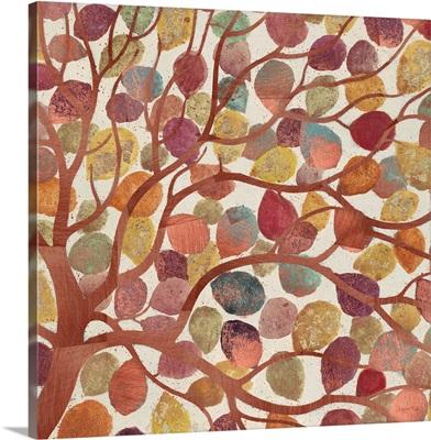 Shimmering Copper Leaves