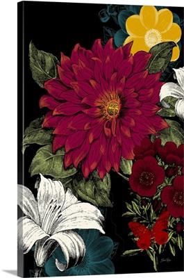 Vibrant Florals Black I
