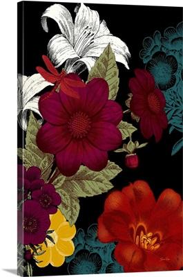 Vibrant Florals Black II