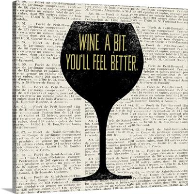 Wine Lino Print I