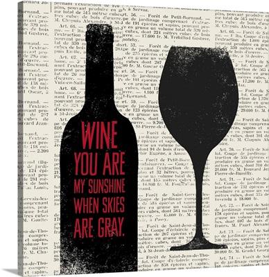 Wine Lino Print II