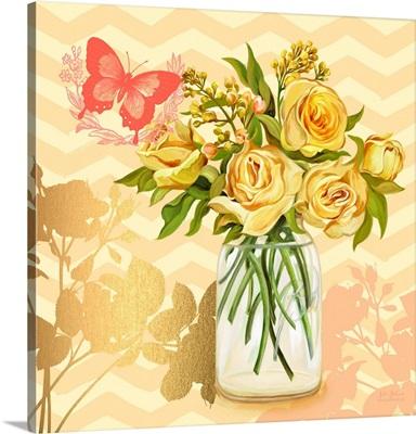 Yellow Mason Jar Bouquet
