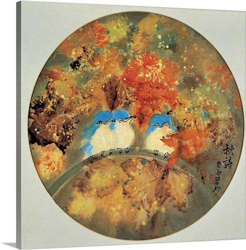 Blue Birds in Autumn Wall Art, Canvas Prints, Framed Prints, Wall ...