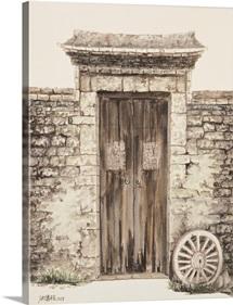 Stone Wall with Door