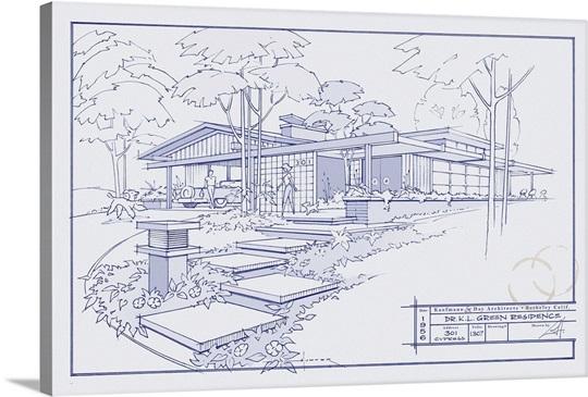 301 cypress dr blueprint wall art canvas prints framed prints 301 cypress dr blueprint malvernweather Choice Image