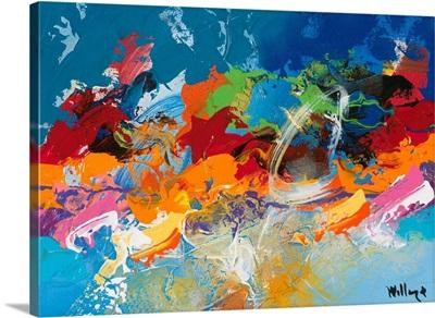 Abstract Ocean Blue V