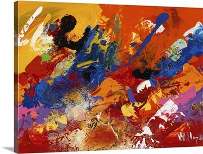 Abstract Orange Summer III