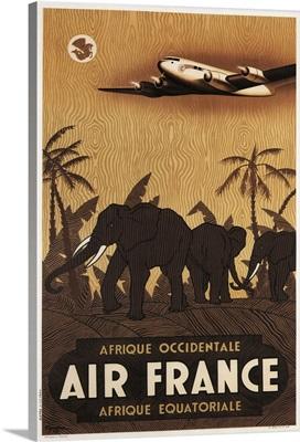 Air France - Vintage Travel Advertisement