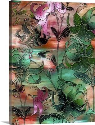 Aqua Lilies